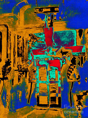 Harry Houdini And The Chinese Water Torture In Abstract Art Print