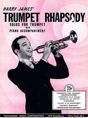 Harry James Photograph - Harry James Trumpet Rhapsody by Mel Thompson