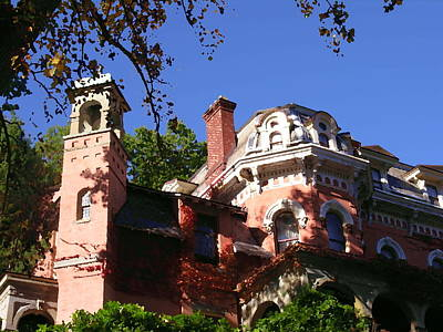 Photograph - Harry Packer Mansion - Jim Thorpe Pa by Jacqueline M Lewis