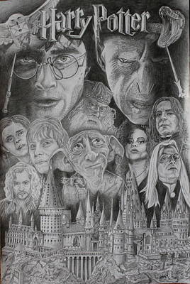 Harry Potter Montage Art Print by Mark Harris