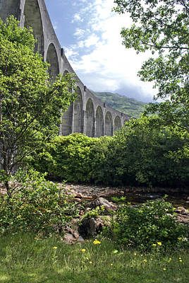 Art Print featuring the photograph Harry Potters Glenfinnan Viaduct Scotland by Sally Ross