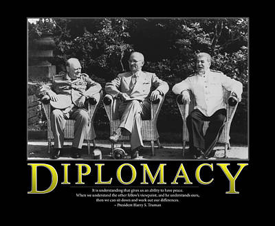 Commander In Chief Photograph - Harry Truman Diplomacy by Retro Images Archive