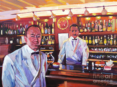 Painting - Harry's American Bar by David Lloyd Glover