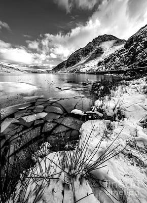 Dry Lake Photograph - Harsh Winter by Adrian Evans