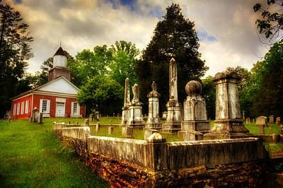 Photograph - Harshaw Chapel And Cemetery by Greg and Chrystal Mimbs