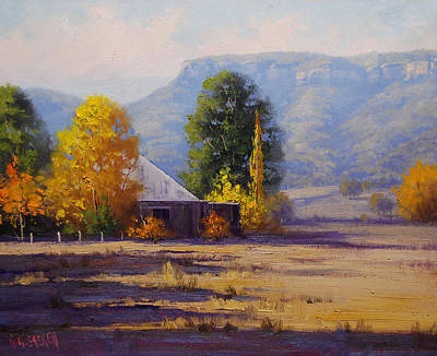 Fiery Painting - Hartley Autumn by Graham Gercken