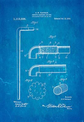 Hartman Confetti Gun Patent Art 1914 Blueprint Print by Ian Monk