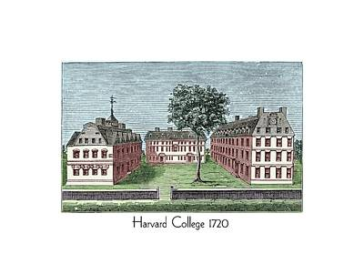 Harvard College - 1720 Art Print
