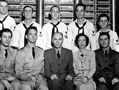 Harvard Photograph - Harvard Mark 1 Computer Team by Us Air Force