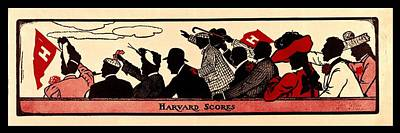 Movies Star Paintings - Harvard Scores 1905 by Benjamin Yeager