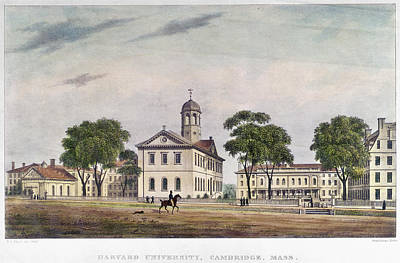 Cambridge University Painting - Harvard University, 1828 by Granger