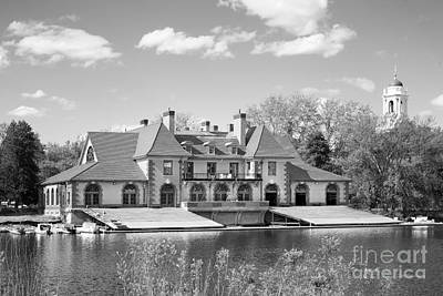 Weld Boat House At Harvard University Art Print by University Icons