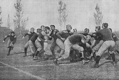Harvard Drawing - Harvard Versus Yale          Date 1905 by Mary Evans Picture Library