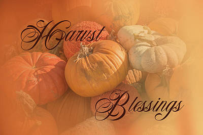 Pumpkins Painting - Harvest Blessings I by Ramona Murdock