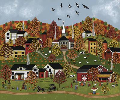 Harvest Celebration II Art Print by Medana Gabbard