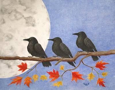 Harvest Crows Art Print by Alyssa Glosson