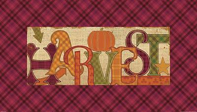 Thanksgiving Painting - Harvest Glow II Fall Plaid by Pela Studio