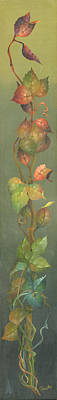 Copper Painting - Harvest Grapevine by Doreta Y Boyd