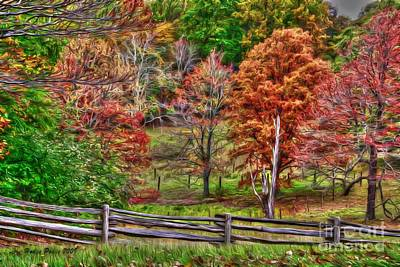 Park Scene Digital Art - Harvest Hues by Dan Stone
