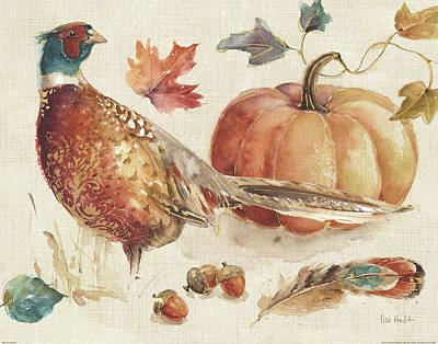Acorn Painting - Harvest Moment I by Lisa Audit