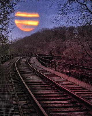 Manayunk Photograph - Harvest Moon by Bill Cannon