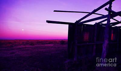 Buckaroo Photograph - Harvest Moon Harney Homestead by Michele AnneLouise Cohen