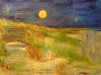 Neil Young Mixed Media - Harvest Moon by Katrina Rasmussen