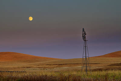Supermoon Photograph - Harvest Moon by Mark Kiver