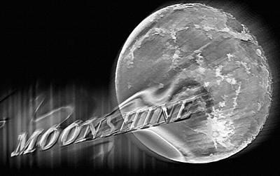 Man In The Moon Mixed Media - Harvest Moon - Moonshine 2 by Steve Ohlsen