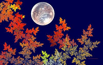 Digital Art - Harvest Moon by Naomi Richmond