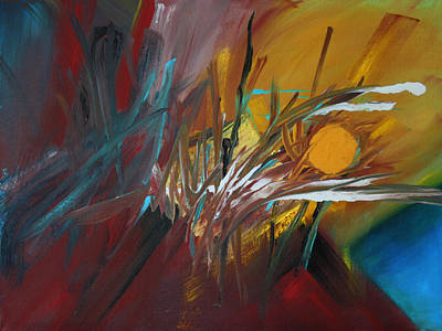 Abstract Painting - Harvest Moon  October by Ethel Vrana