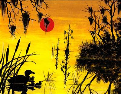Painting - Harvest Moon by Richard Brooks