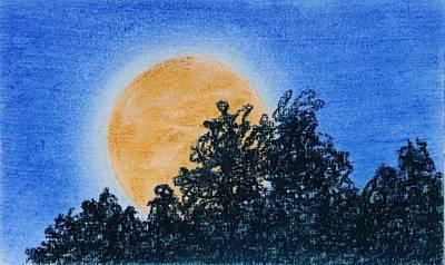 Painting - Harvest Moon Rising by Brenda Stevens Fanning