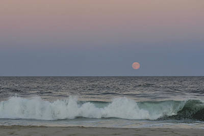 Photograph - Harvest Moon Seaside Park New Jersey 2013 by Terry DeLuco