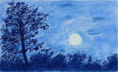 Painting - Harvest Moon Setting by Brenda Stevens Fanning
