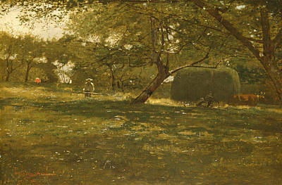 Winslow Homer Painting - Harvest Scene by Winslow Homer