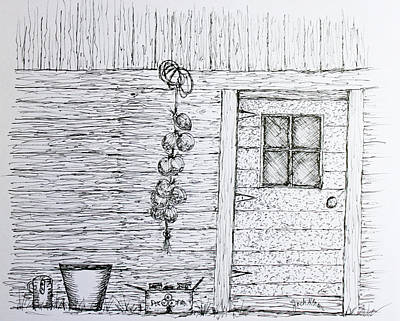 Still Life Drawings - Harvest Shed by Jack G  Brauer