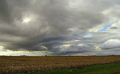 Photograph - Harvest Sky by Claude Oesterreicher