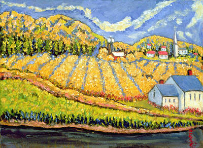 Village Church Painting - Harvest St Germain Quebec by Patricia Eyre