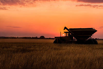 Art Print featuring the photograph Harvest Sunset by Jay Stockhaus