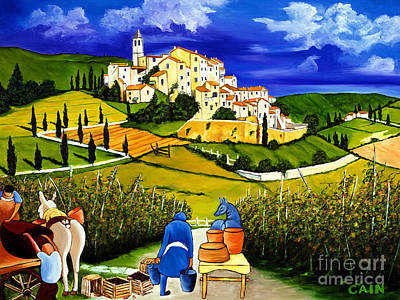 Harvest The Grapes Art Print