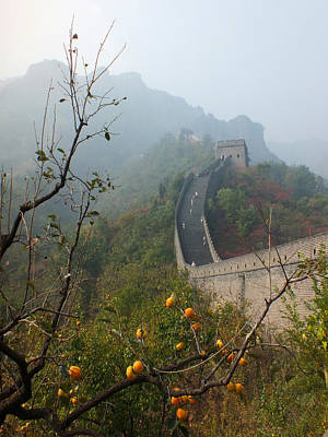Harvest Time At The Great Wall Of China Art Print