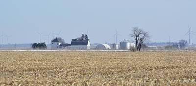 Illinois Farm Land Photograph - Harvest Time by Kelly Barr
