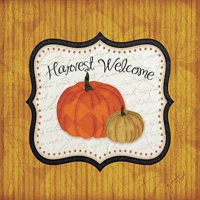 Pumpkins Painting - Harvest Welcome by Jennifer Pugh