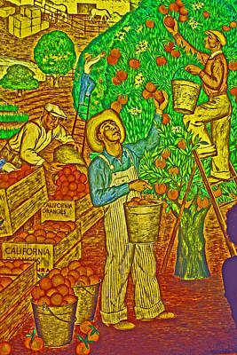 Photograph - Harvest Workers by Joseph Coulombe