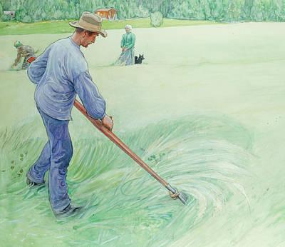 Harvesters Art Print by Carl Larsson
