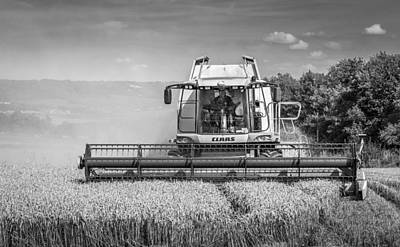 Photograph - Harvesting Wheat by Gary Gillette