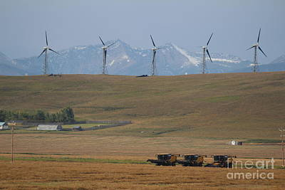 Harvesting Wind And Grain Art Print