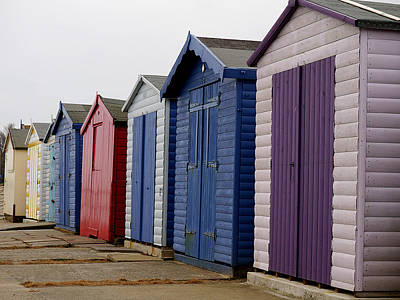 Harwich - Beach Huts Art Print