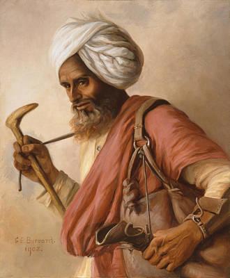 Hasan, Water Carrier To The Artist Art Print by Gertrude Ellen Burrard